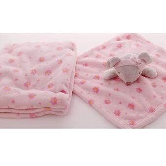 ผ้าห่ม & ตุ๊กตาผ้ากอด สีชมพู