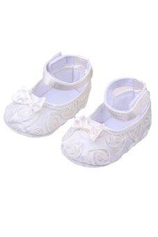 Sanwood รองเท้าเด็กทารกหญิง AntiSlip 6.., 12เดือน-ขาว