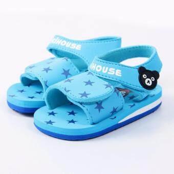 ((เบามากๆ)) รองเท้าเดินชายหาด รองเท้าเด็กรัดส้น Sandal Kids Shoes รองเท้าโฟม สีสันสดใส ไม่ซ้ำใคร- สินค้านำเข้า Size 17.0