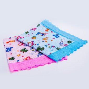 Babi Care ผ้ายางรองกันเปื้อนสำหรับเด็ก ขอบลูกไม้ ( แพ็ค 2 ) คละลาย คละสี
