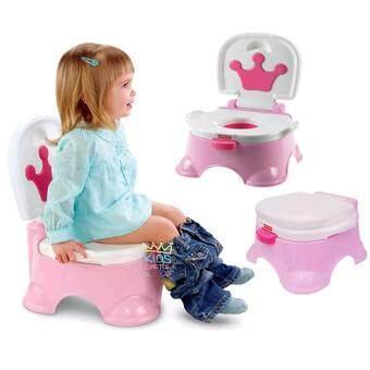 กระโถนฝึกเด็กขับถ่าย Potty Toilet มีเสียงเพลงเวลาขับถ่ายสีชมพู
