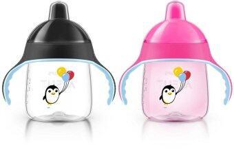 AVENT ถ้วยหัดดื่ม 9oz ลายนกเพนกวิน แพคคู่ รุ่นใหม่ล่าสุด