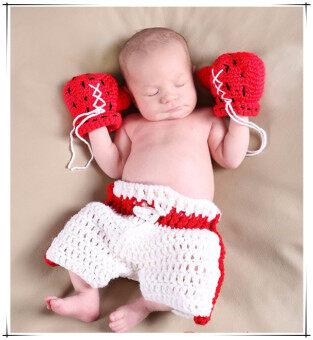 ilovebaby มวยสไตล์ถ่ายภาพเด็กน่ารัก 0.., 3เดือนยันถักโครเชต์ชุดแฟนซี