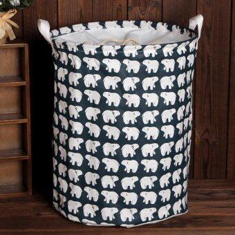 Harga Hot Sales Large Beam Laundry Basket Toy Storage Clothes Laundry Basket - Polar Bear - intl