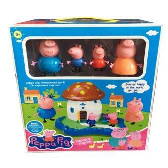 Khonglendeeja ของเล่น Peppa Pig ชุดบ้านเห็ด