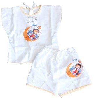 Attoon ชุดเด็กแรกเกิดคลุมไหล่ ผ้า Cottoon - สีฟ้า