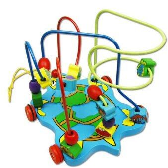 ToyAndMomStory ขดลวดตัวเต่า (Marine Organism Insects - Bead Maze Wooden Toy)