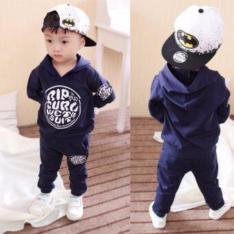 Korean Fashion Kids ชุดเด็กสไตล์เกาหลี เสื้อแขนยาวมีฮู้ด+กางเกง