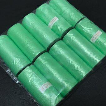 HPTJ ถุงห่อผ้าอ้อม สำหรับเด็กและสัตว์เลี้ยง ขนาดพกพา แพ็ค 10 ม้วน สีเขียว