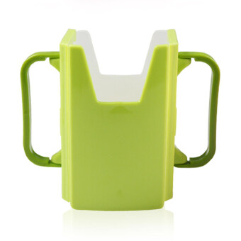 YingWei Baby Toddler Kid Adjustable Juice Milk Box Drinking Bottle Cup Holder Green