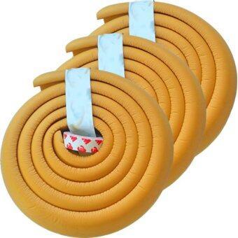โฟมยางกันกระแทกสำหรับเด็ก ความยาว 2 เมตร Soft Edge Cushion Strip (สีน้ำตาลอ่อน) ชุดเช็ต 3 ม้วน
