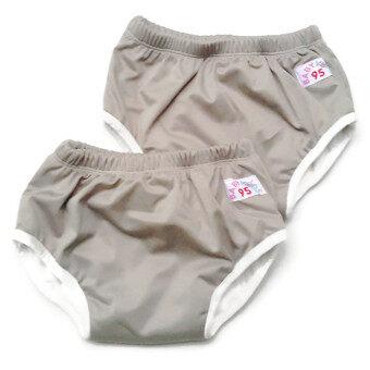 BABYKIDS95 กางเกงผ้าอ้อมแบบสวม รุ่นแบมบู กันน้ำ Size:L รอบเอว 16-22 นิ้ว เซ็ท 2 ตัว (สีเทา)