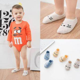 Harga Bear Fashion 3 Pairs Boys Girls Baby Cotton Socks - intl