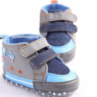 รองเท้าหัดเดิน รองเท้าเด็กอ่อน รองเท้าเด็กพื้นผ้า baby shoe Prewalker ของใช้เด็กอ่อน รองเท้าทารก รองเท้าเด็กเล็ก รองเท้าบูทเด็กอ่อน สียีนส์