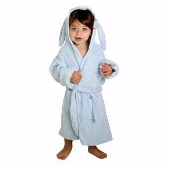 Minene Bath Robe / ชุดคลุมอาบน้ำเด็ก Blue S-new dog
