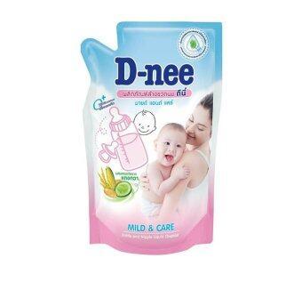 D-nee น้ำยาล้างขวดนม แบบชนิดเติม 600 มล. (1 ลัง มี 12 ถุง)