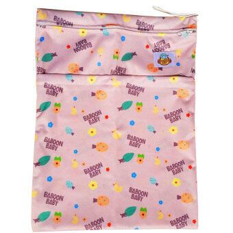 Baboon baby กระเป๋ากันน้ำเก็บกลิ่น 2 ช่อง สำหรับพกพากางเกงผ้าอ้อมและแผ่นซับ Marshmallo - Pink