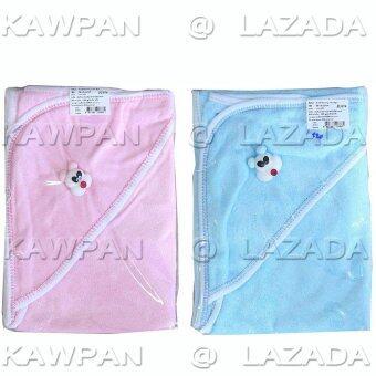 K.baby ผ้าข่นหนูห่อตัวเด็ก แพค 2 ชิ้น - สีชมพู/ฟ้า