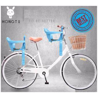 HUG RABBIT ที่นั่งเด็กติดจักรยาน ที่นั่งเสริมจักรยาน ที่นั่งจักรยานเด็ก เบาะจักรยาน ( ฺสีฟ้า )