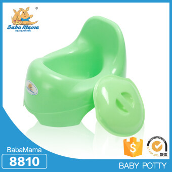 BabaMama กระโถนสำหรับเด็กอายุ 5เดือน-2ปี ยี่ห้อ BabaMama ชื่อรุ่น French toilet แบบ 8810 สีเขียว