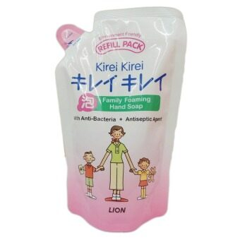 ขายยกลัง! Lion Kirei Kirei Family Foaming Hand Soap 200 ml. (12 ถุง)