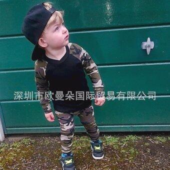 Banji Bear เสื้อ+กางเกงเข้าชุด ลายทหาร สำหรับเด็กชายอายุ 6-18 เดือน