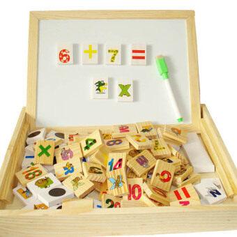 KIDSSHOP HATYAI 2 in 1 กระดานแม่เหล็ก กระดานดำ สอนเลข สอนภาษาอังกฤษ