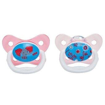 Dr.Brown'sจุกหลอกPreVent BUTTERFLY SHIELD Pacifier, Stage 2 * 6-12M - Pink, 1pk.(Pink)