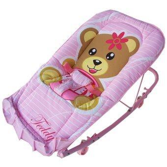 Baby Cradle เปลโยก รุ่น C232 ลายการ์ตูน Teddy (สีชมพู)