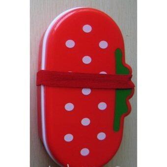 กล่องอาหารเด็ก ลายสตอเบอร์รี่ แดง
