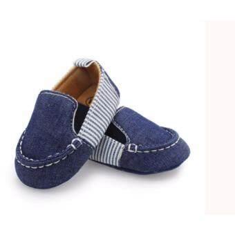 รองเท้าเด็ก รองเท้าหัดเดิน สียีนส์ผ้าใบ ใส่สบายเท้า ขนาดเด็ก 6-12 เดือน