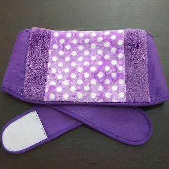 เข็มขัดรัดเอวกระเป๋าน้ำร้อนไฟฟ้า สีเหลือง พร้อมถุงน้ำร้อนไฟฟ้าสวมมือได้