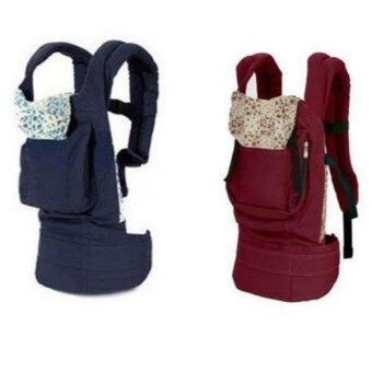 NEW Newborn Infant Baby Carrier Breathable Comfort Sling Wrap Cotton Backpack Blue - intl