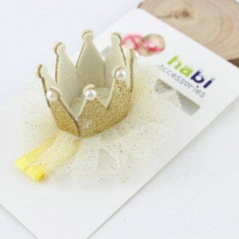Harga Baby Toddler Elastic Headwear Lace Crown Lovely Girls Hair Accessories(Gold) - intl