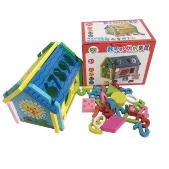ASIA TOY ของเล่นไม้ บล็อกหยอดทรงบ้าน