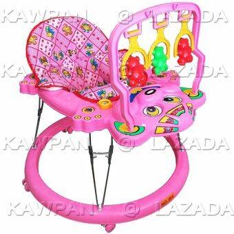 k.baby รถหัดเดินหน้าลูกหมี + โมบายของเล่น + ดนตรี (สีชมพู)