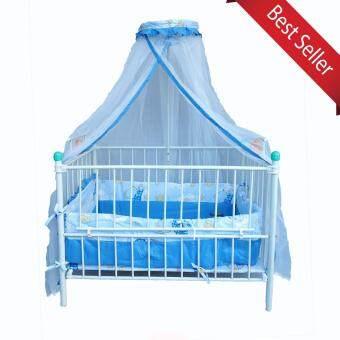 Chuchob เตียงเด็กแรกเกิด-3 ปี ลายการ์ตูน (สีฟ้า) พร้อมมุ้ง