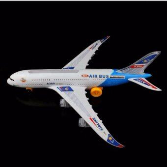 Airbus A380 เครื่องบินโบอิ้ง แอร์บัส เครื่องบินโดยสาร มีไฟ มีเสียง วิ่งได้
