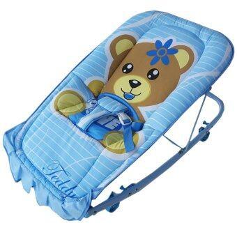 Baby Cradle เปลโยก รุ่น C232 ลายการ์ตูน Teddy (สีน้ำเงิน)