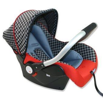 Fico คาร์ซีท รุ่น HB801 สีเเดงลายตาราง เหมาะสำหรับเด็กแรกเกิดถึง 15 เดือน