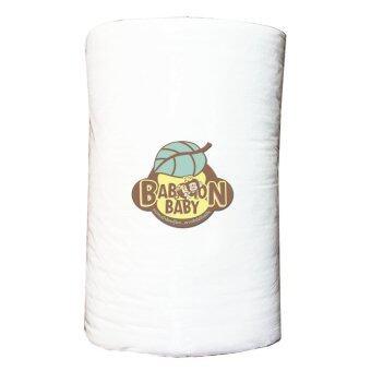 Baboon baby กระดาษกรองอุจจาระเยื่อไผ่ออแกนิกแบบใช้แล้วทิ้ง - สีขาว (100 แผ่น/ม้วน)