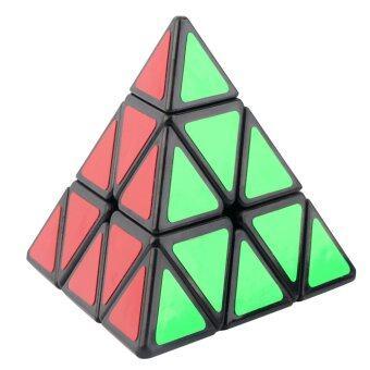 โอ้ MOYU รูปทรงสามเหลี่ยมพีระมิด Pyraminx เวทมนตร์ความเร็วงงลูกบาศก์ (สีดำ/ขาว)
