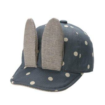 Harga Baby Cute Rabbit Ears Denim Baseball Sun Peaked Cap (Blue) - intl