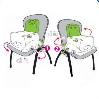 ThaiTrendy เก้าอี้นั่งทานข้าว สำหรับเด็ก มีถาดของเล่นด้านหน้าพร้อมเสียงเพลง แบบพกพา (image 2)