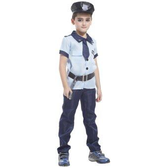 Harga EOZY Policeman Costume Kids Halloween Police Costume Cosplay Party Performance Costumes Boys -M