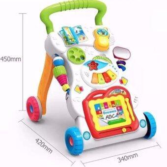 รถผลักเดิน รถหัดเดิน ของเล่นเสริมพัฒนาการ ที่พยุงเดินเด็ก รุ่นอเนกประสงค์ (White)