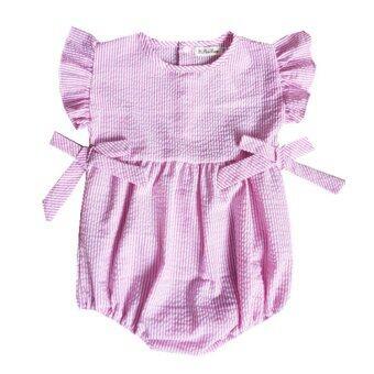 [100% คอตต้อน] เสื้อผ้าเด็กเสื้อแบบผ้าฝ้ายสีชมพู
