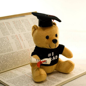Harga Creative Graduation Gift Plush Doctorial hat Bear Toy 20cm Stuffed Soft Gift for Children - intl