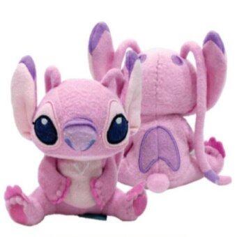 Disney Stitch ตุ๊กตา Angel แองเจิ้ล ท่านั่ง 12 นิ้ว (สีชมพู)