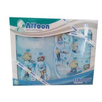 Attoon ชุดของขวัญ เสื้อผ้าเด็กแรกเกิด (สีฟ้า)